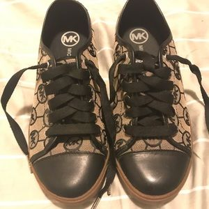 Authentic Black and brown Michael Kors sneakers